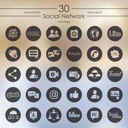 web portal: Set of social network icons