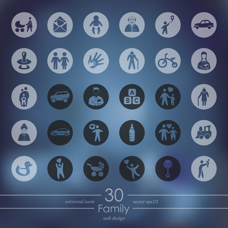 conjugal: Set of family icons