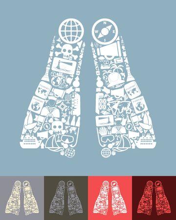 flipper: flipper icon Illustration