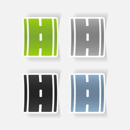 tar paper: realistic design element: road
