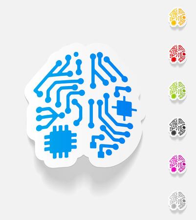 artificial intelligence: realistic design element. artificial intelligence