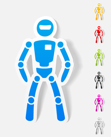 office automation: realistic design element. robot Illustration