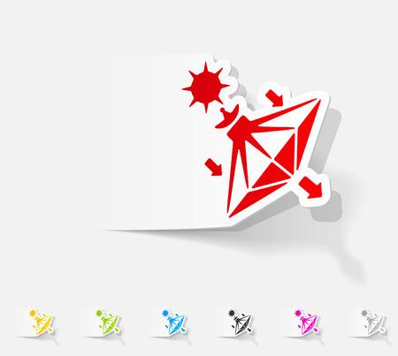 sails: realistic design element. solar sails Illustration