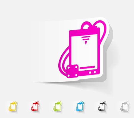 three d: realistic design element. three d printer Illustration