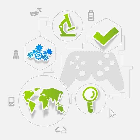 modernization: technology sticker infographic