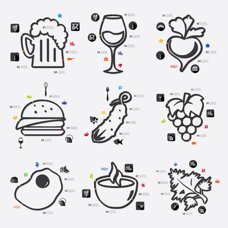 restaurant infographic Vector