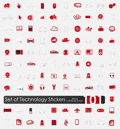 Set of technology stickers Vector