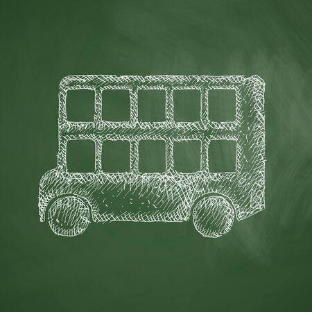 decker: bus double decker icon Illustration