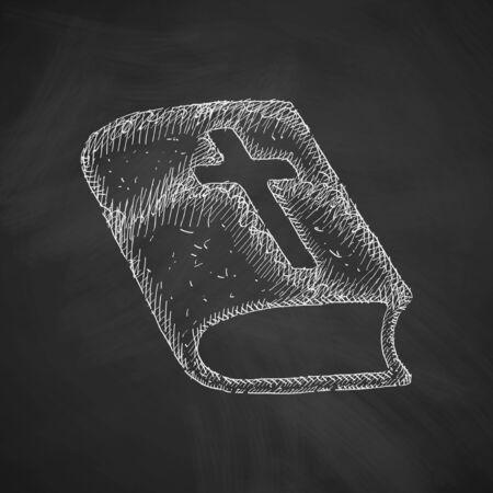 solemn: bible icon Illustration
