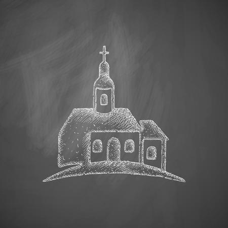 abstinence: Icona chiesa Vettoriali