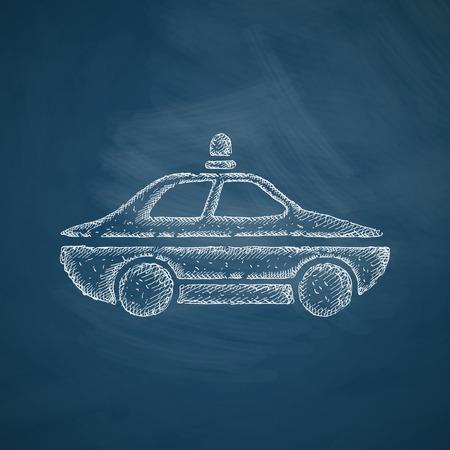 politieauto: politie auto pictogram Stock Illustratie