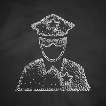 security token: police officer icon