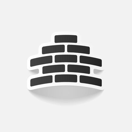 brickwork: realistic design element: brickwork Illustration