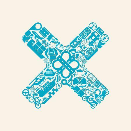 no edges: cross icon