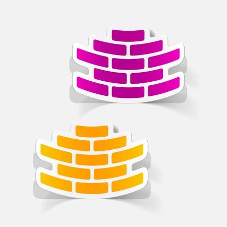 paredes de ladrillos: realista elemento de dise�o: ladrillo