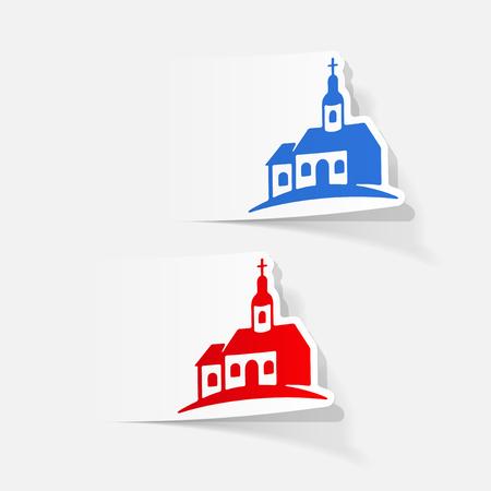 realistic design element: church Vector