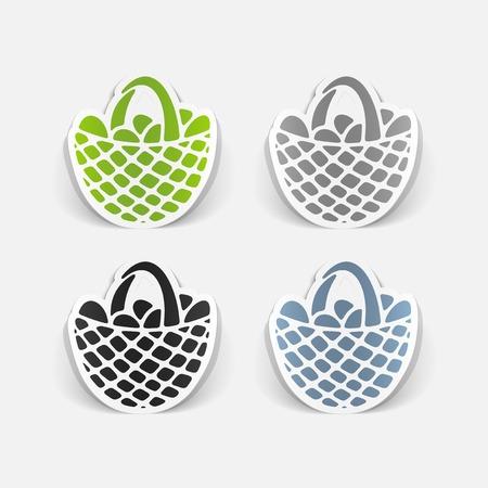 easter basket: realistic design element: easter basket