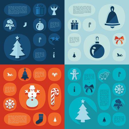 Christmas flat infographic Vector