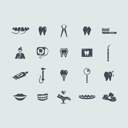 Set of stomatology icons Vector