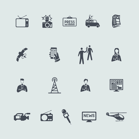 Set of news icons Vector