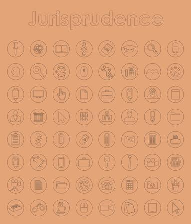 Set of jurisprudence simple icons Vector