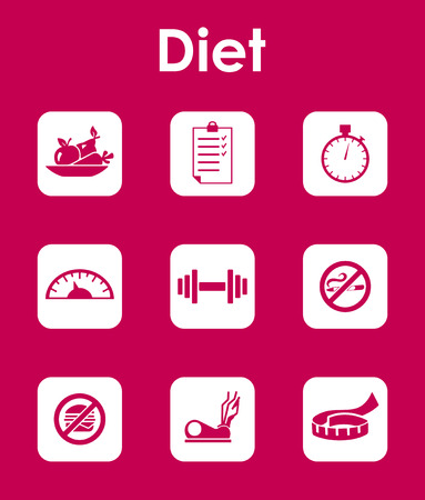 temperance: Set of diet simple icons Illustration