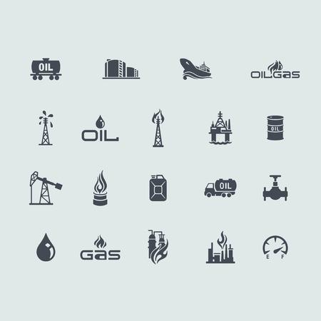 Set of oil and gas icons Ilustração