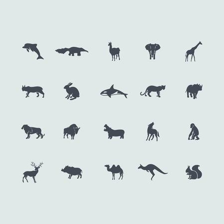 Set of mammals icons Vector