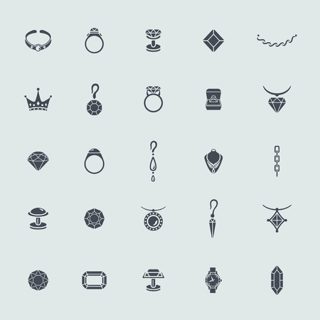 cufflink: Set of jewelry icons