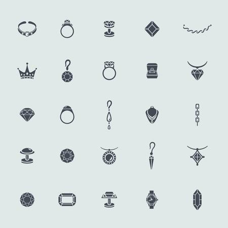 Set van sieraden pictogrammen Stock Illustratie