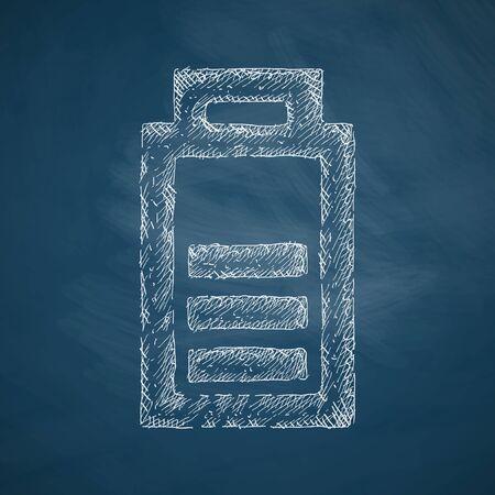 lading: opladen van de batterij-icoontje