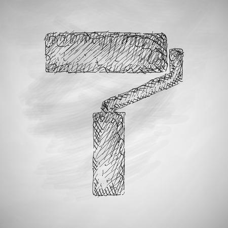 farbrolle: Farbroller-Symbol Illustration
