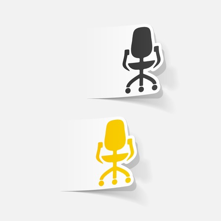 sedia ufficio: realistico elemento di design: sedia da ufficio