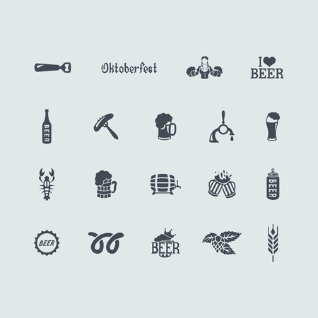 opener: Set of beer icons
