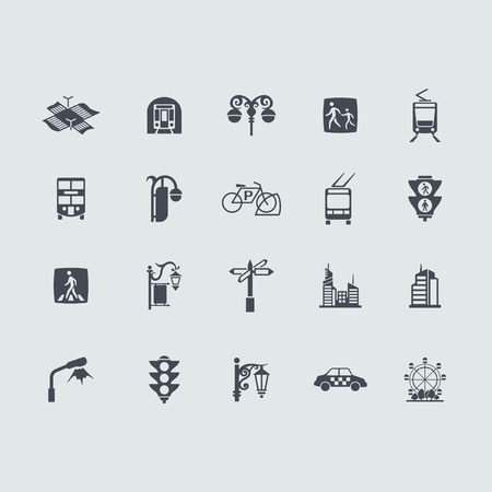 Set of city icons Vector