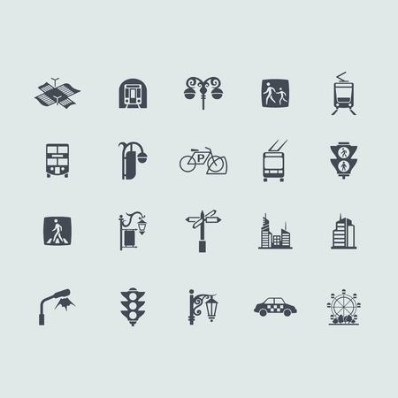 Set van de stad iconen