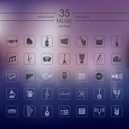 workmanship: Set of music icons