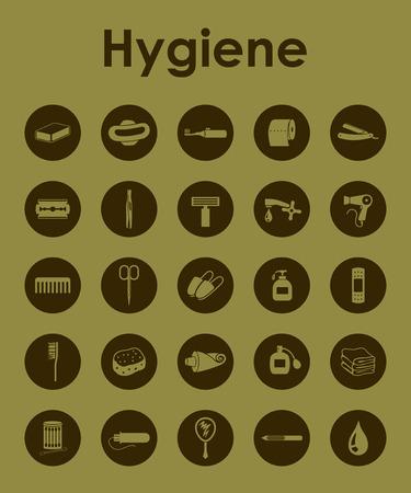 epidemiology: Set of hygiene simple icons