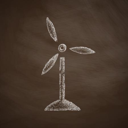 wind turbines: wind turbines icon