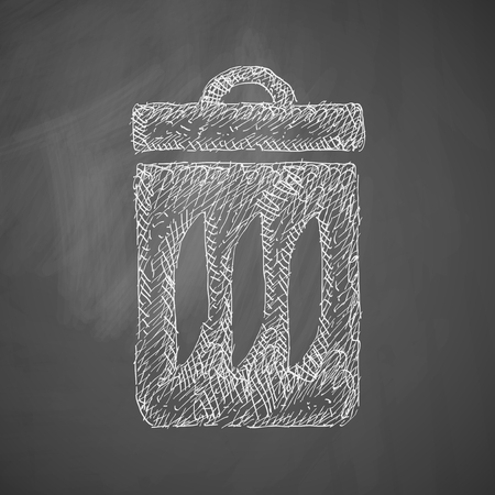 ecological adaptation: trash can icon