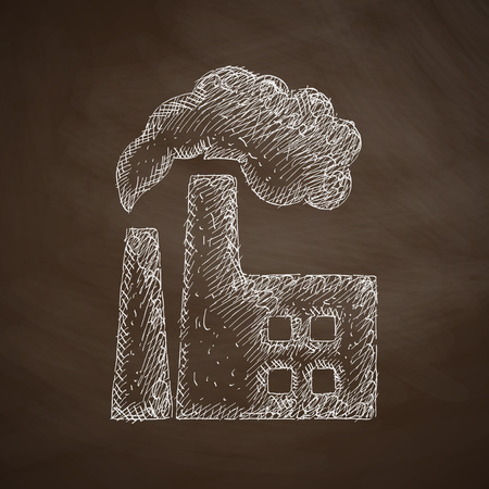 factory pipes icon Vector