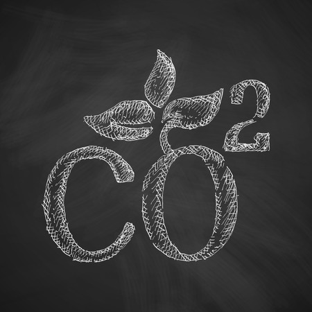 environmental analysis: co2 sign dioxide icon