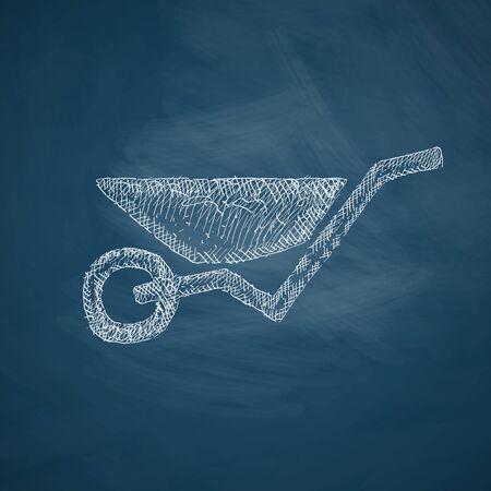 wheelbarrow icon Illustration