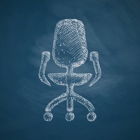 sedia ufficio: sedia da ufficio icona