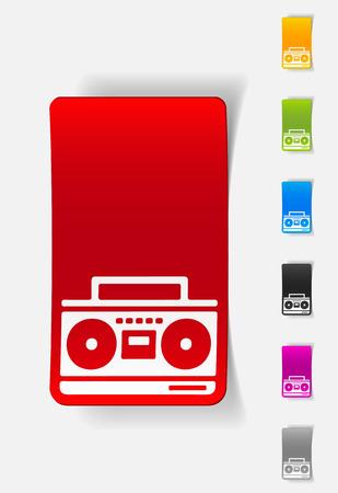grabadora: elemento de dise�o realista. grabador de cassette