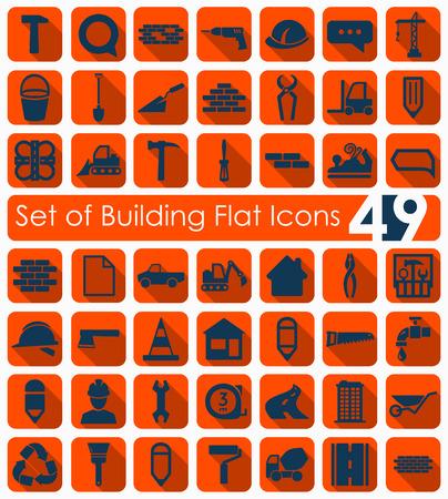 Set van gebouw pictogrammen