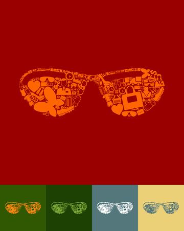 myopia: sunglasses icon Illustration