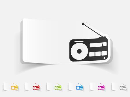 realistic design element of radio Illustration