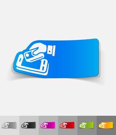 liabilities: realistic design element of online payment Illustration