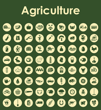 It is a set of agriculture simple web icons Ilustração